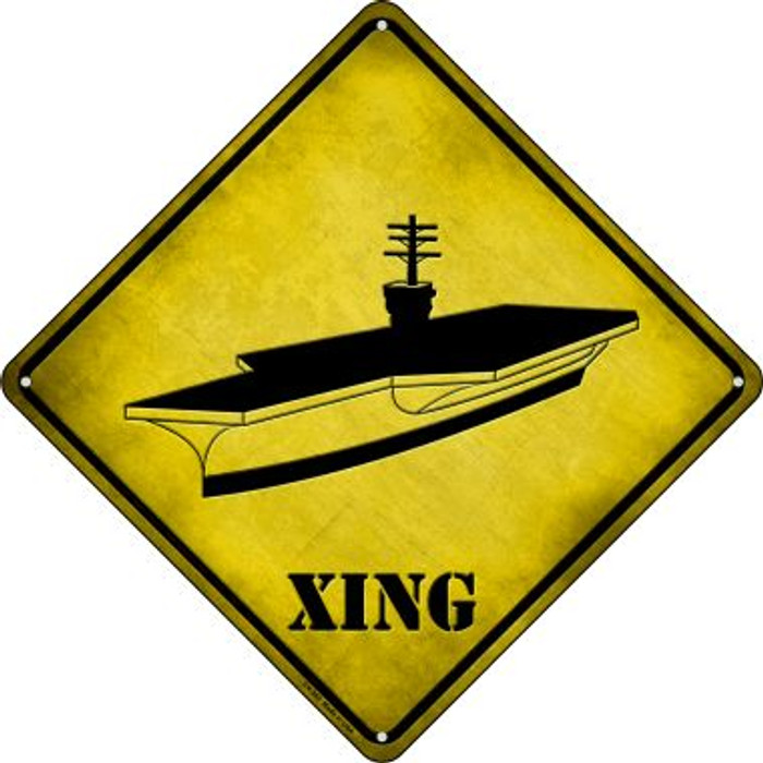 Aircraft Carrier Xing Novelty Metal Crossing Sign CX-362