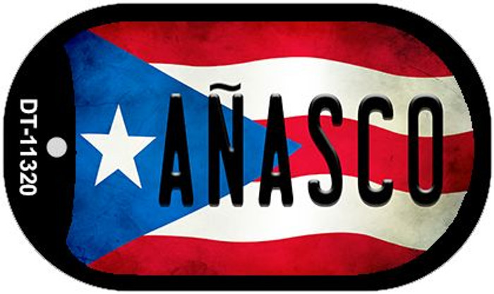 Anasco Puerto Rico State Flag Novelty Metal Dog Tag Necklace DT-11320