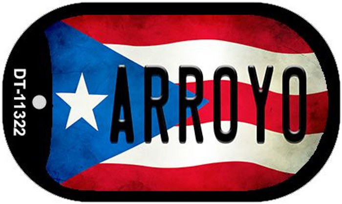Arroyo Puerto Rico State Flag Novelty Metal Dog Tag Necklace DT-11322