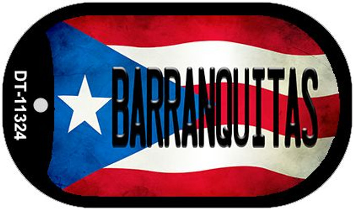 Barranquitas Puerto Rico State Flag Novelty Metal Dog Tag Necklace DT-11324