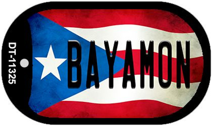 Bayamon Puerto Rico State Flag Novelty Metal Dog Tag Necklace DT-11325