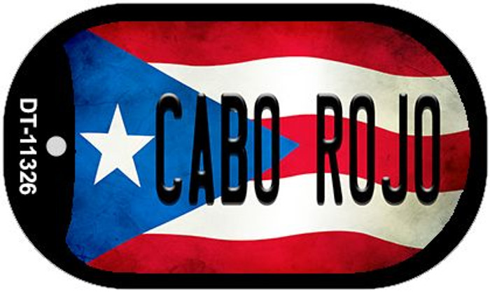 Cabo Rojo Puerto Rico State Flag Novelty Metal Dog Tag Necklace DT-11326