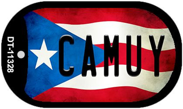 Camuy Puerto Rico State Flag Novelty Metal Dog Tag Necklace DT-11328