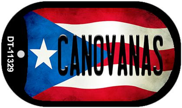 Canovanas Puerto Rico State Flag Novelty Metal Dog Tag Necklace DT-11329