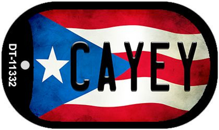 Cayey Puerto Rico State Flag Novelty Metal Dog Tag Necklace DT-11332