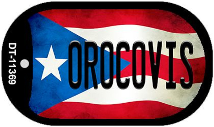 Orocovis Puerto Rico State Flag Novelty Metal Dog Tag Necklace DT-11369