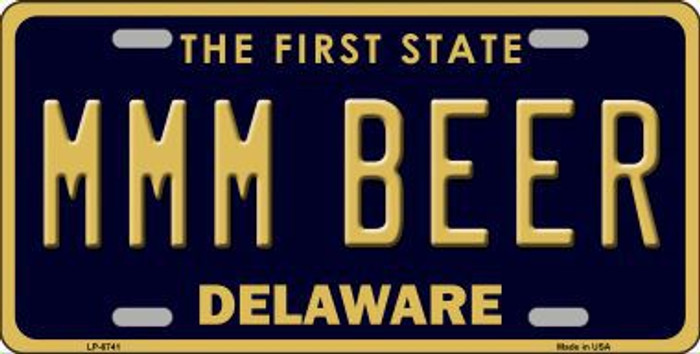 MMM Beer Delaware Novelty Metal License Plate LP-6741