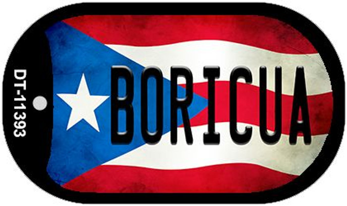 Boricua Puerto Rico State Flag Novelty Metal Dog Tag Necklace DT-11393