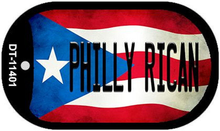 Philly Rican Puerto Rico State Flag Novelty Metal Dog Tag Necklace DT-11401