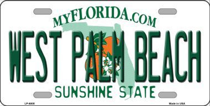 West Palm Beach Florida Novelty Metal License Plate LP-6000