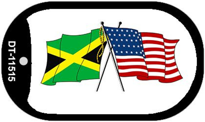 Jamaica / USA Flag Novelty Metal Dog Tag Necklace DT-11515