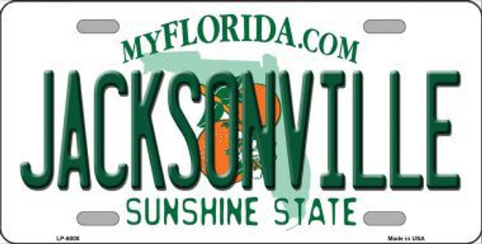 Jacksonville Florida Novelty Metal License Plate LP-6008