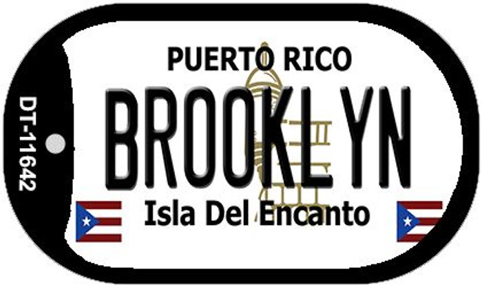 Brooklyn Puerto Rico Novelty Metal Dog Tag Necklace DT-11642