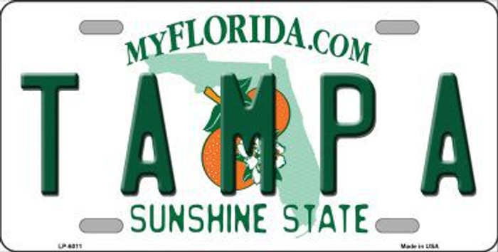 Tampa Florida Novelty Metal License Plate LP-6011