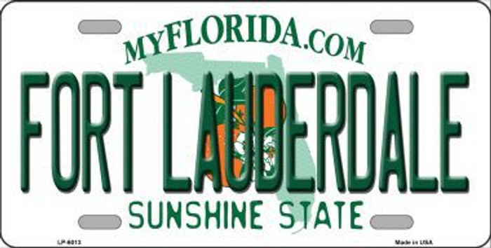 Fort Lauderdale Florida Novelty Metal License Plate LP-6013