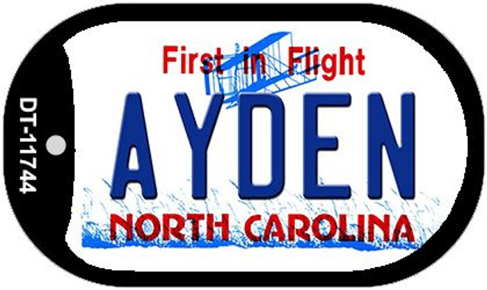 Ayden North Carolina State Novelty Metal Dog Tag Necklace DT-11744