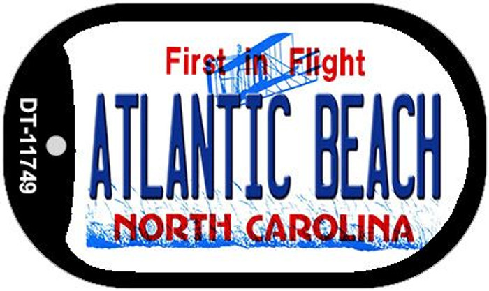 Atlantic Beach North Carolina State Novelty Metal Dog Tag Necklace DT-11749