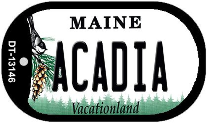 Acadia Maine Novelty Metal Dog Tag Necklace DT-13146