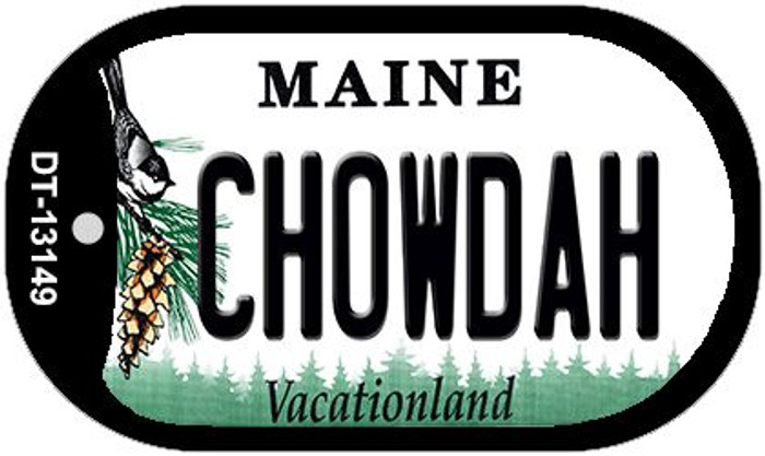 Chowdah Maine Novelty Metal Dog Tag Necklace DT-13149