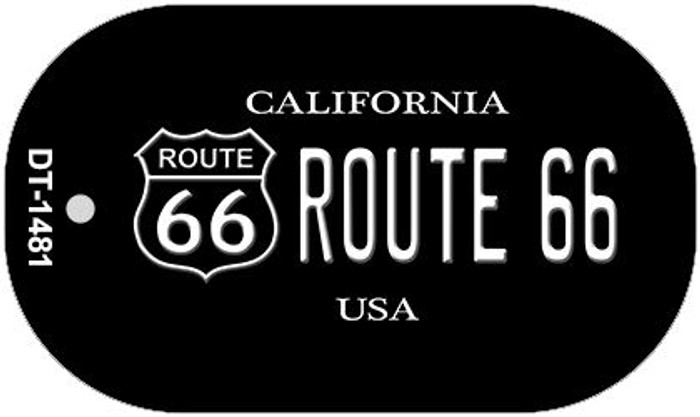 Route 66 California Novelty Metal Dog Tag Necklace DT-1481