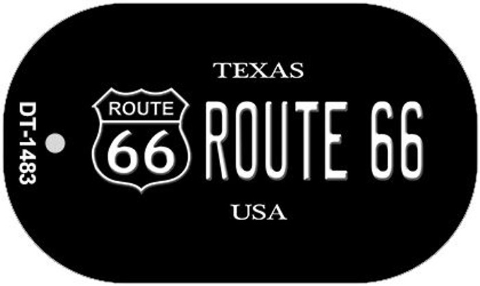 Route 66 Texas Novelty Metal Dog Tag Necklace DT-1483