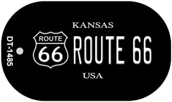Route 66 Kansas Novelty Metal Dog Tag Necklace DT-1485
