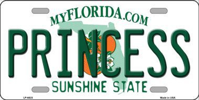 Princess Florida Novelty Metal License Plate LP-6023