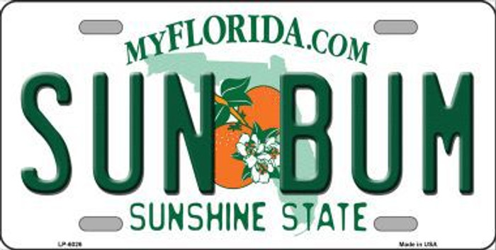 Sun Bum Florida Novelty Metal License Plate LP-6026