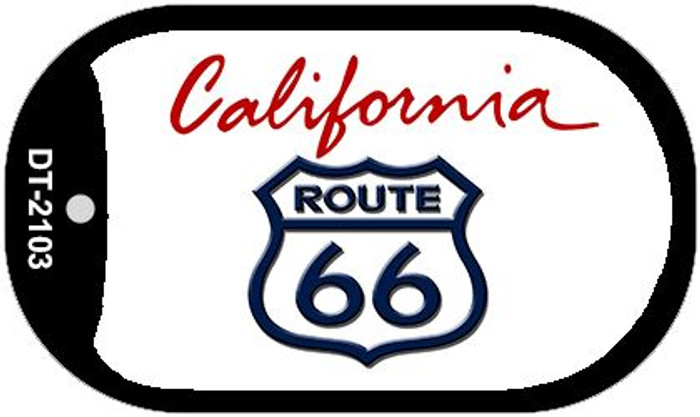 RT 66 California State License Plate Dog Tag Necklace DT-2103