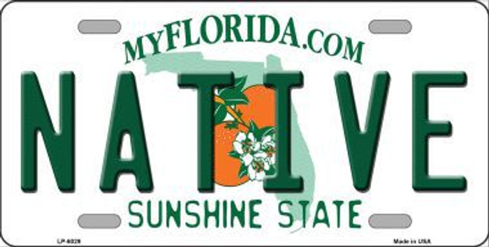 Native Florida Novelty Metal License Plate LP-6029