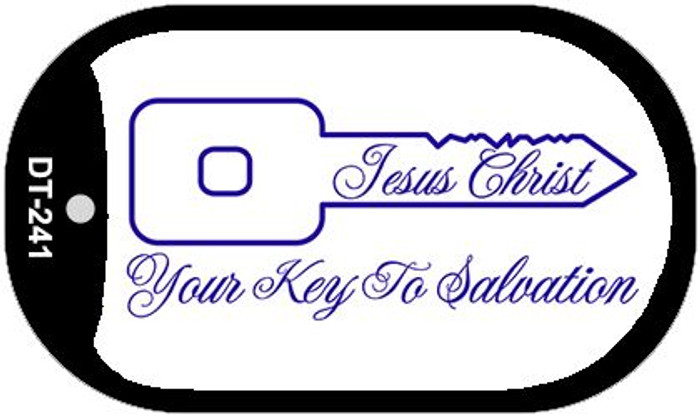 Key To Salvation Novelty Metal Dog Tag Necklace DT-241