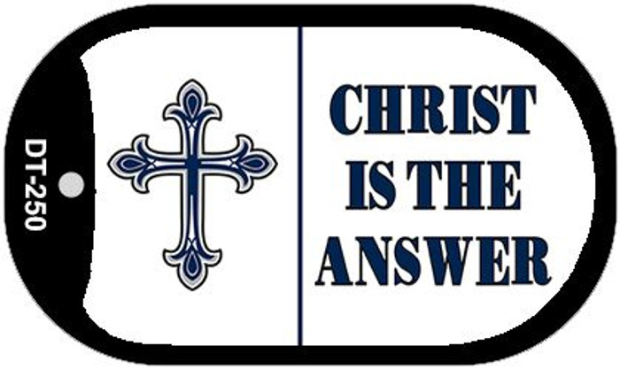 Christ Is The Answer Novelty Metal Dog Tag Necklace DT-250