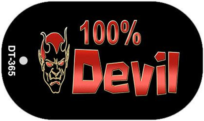 100% Devil Novelty Metal Dog Tag Necklace DT-365