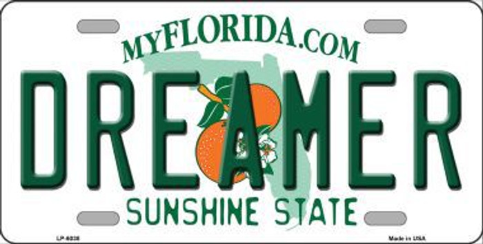 Dreamer Florida Novelty Metal License Plate LP-6038