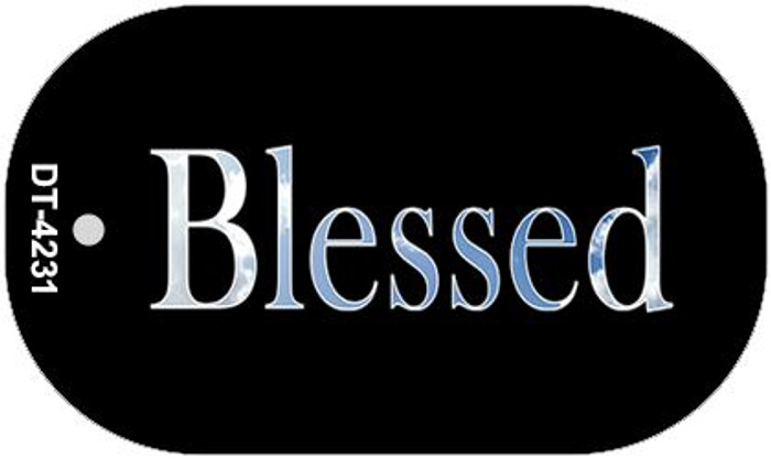 Blessed Clouds Novelty Metal Dog Tag Necklace DT-4231