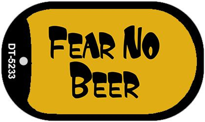 Fear No Beer Novelty Metal Dog Tag Necklace DT-5233