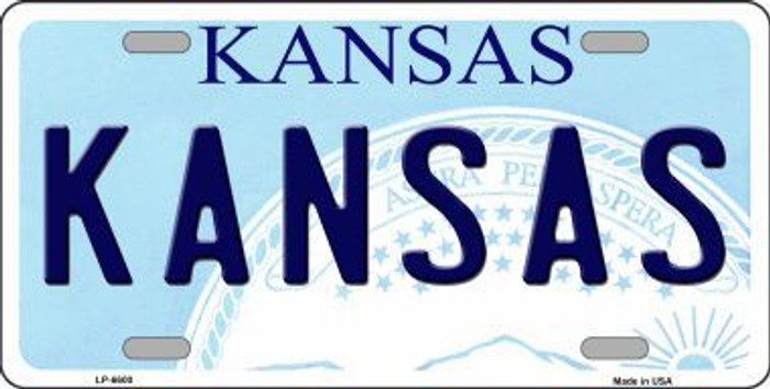 Kansas Novelty Metal License Plate LP-6600