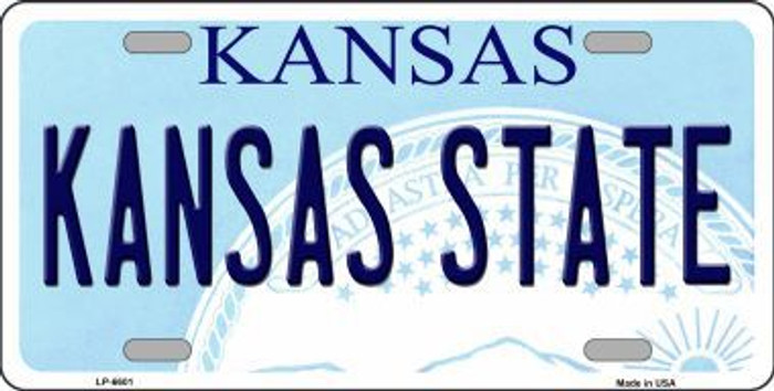 Kansas State Novelty Metal License Plate LP-6601