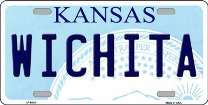 Wichita Kansas Novelty Metal License Plate LP-6602