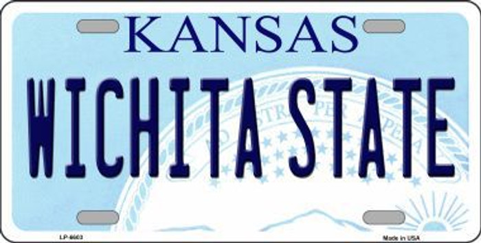 Wichita State Kansas Novelty Metal License Plate LP-6603