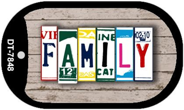 Family Plate Art Novelty Metal Dog Tag Necklace DT-7848