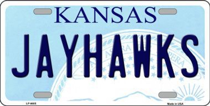 Jayhawks Kansas Novelty Metal License Plate LP-6605