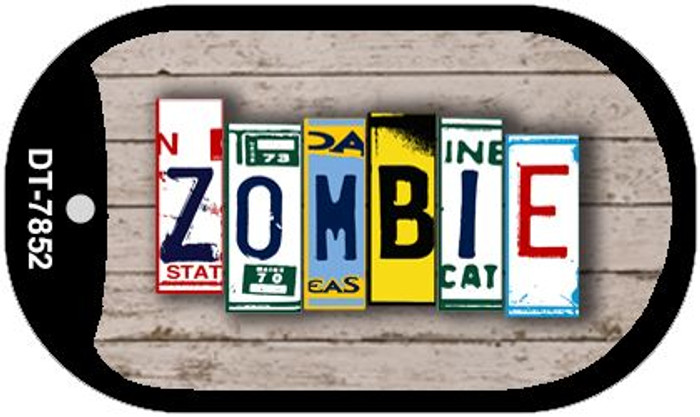 Zombie Plate Art Novelty Metal Dog Tag Necklace DT-7852