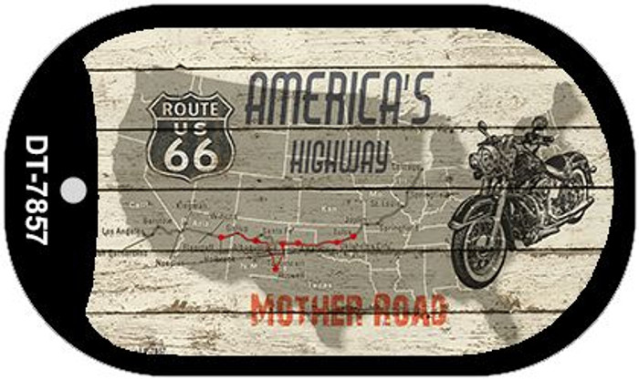 Americas Highway Mother Road Novelty Metal Dog Tag Necklace DT-7857
