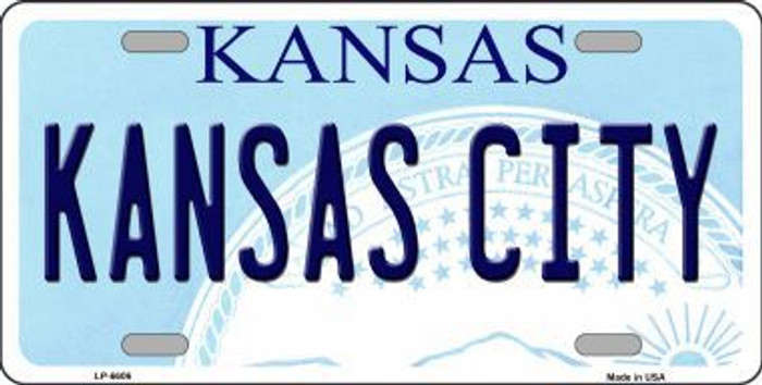 Kansas City Novelty Metal License Plate LP-6606