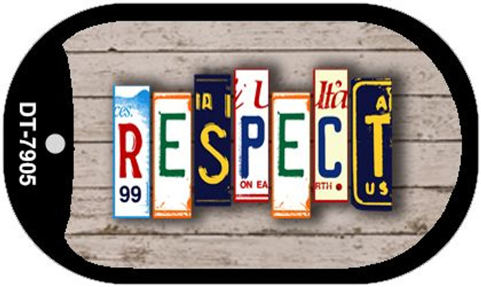 Respect Plate Art Novelty Metal Dog Tag Necklace DT-7905