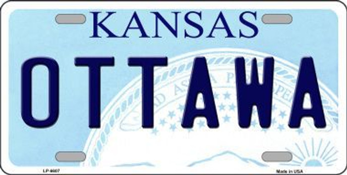 Ottawa Kansas Novelty Metal License Plate LP-6607