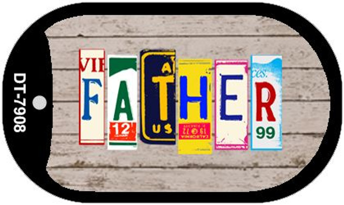 Father Plate Art Novelty Metal Dog Tag Necklace DT-7908