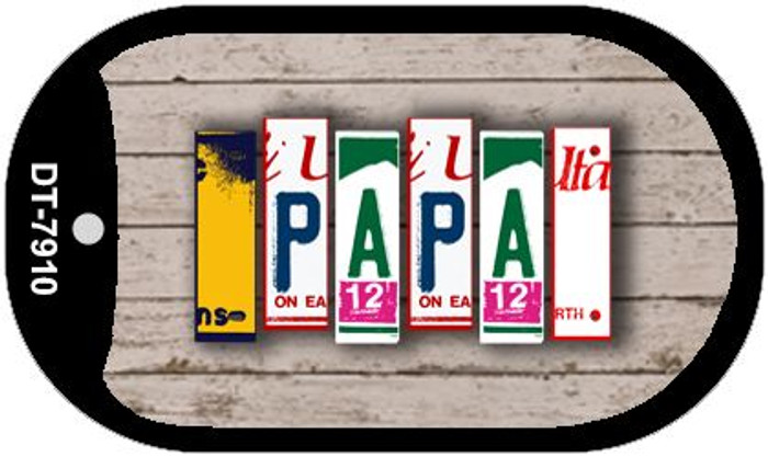 Papa Plate Art Novelty Metal Dog Tag Necklace DT-7910