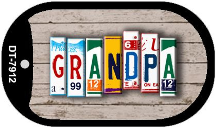 Grandpa Plate Art Novelty Metal Dog Tag Necklace DT-7912